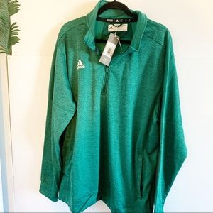 NWT Adidas Men's TI 1/4 Zip, Size 2XL